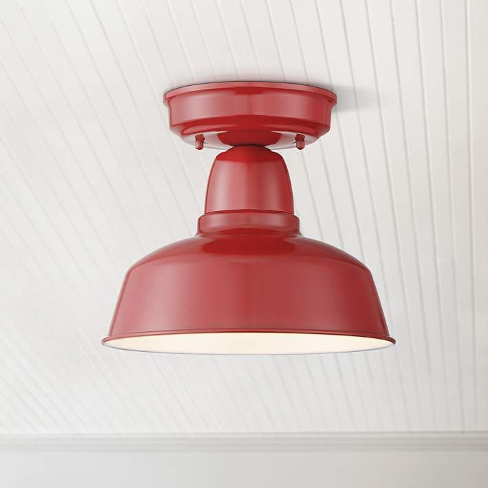 Urban Barn Collection 10 1 4 Wide Red Outdoor Ceiling Light 13f83 Lamps Plus