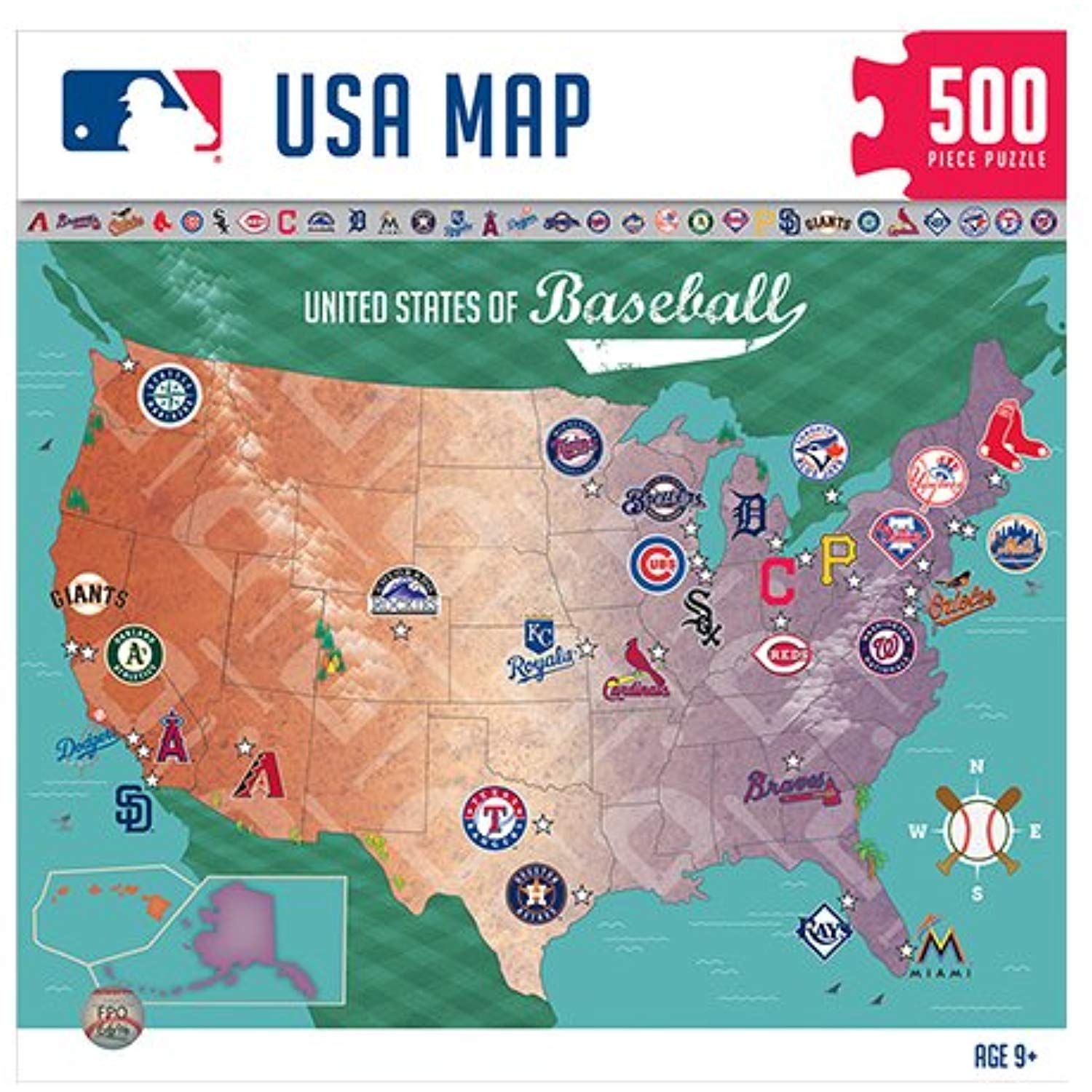 Masterpieces Mlb Map Jigsaw Puzzle 500 Piece You Can Get More Details By Clicking On The Image This Is An Affiliate L Baseball Stadium Map Map Puzzle Map