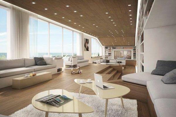 modernes wohnzimmer gestalten panorama fenster Entwerfen - moderne wohnzimmer gestalten