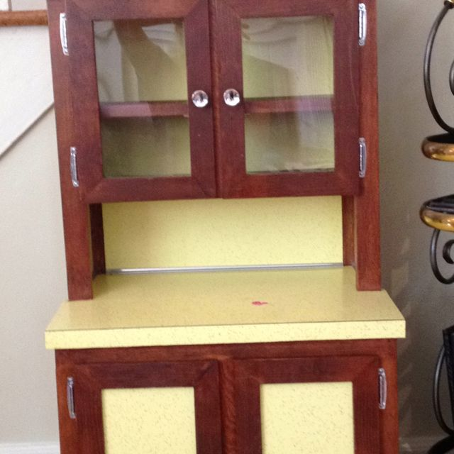Kids hutch from the 70's I just bought- trying to decide what color to paint it - if any!