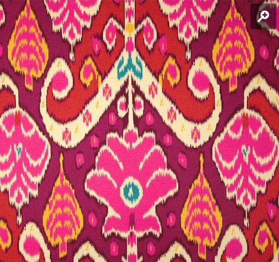 Red Ikat Pillow Cover / Boho Pillow / Pink Pillow Case