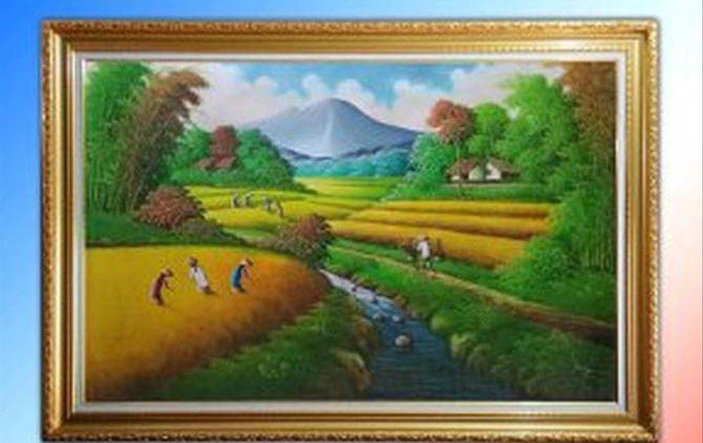25 Lukisan Pemandangan Alam Pedesaan Jual Lukisan Pemandangan Alam Pedesaan Indah Dan Menawan B12lu101 Download Pemandangan Saw Di 2020 Seni Pemandangan Painting