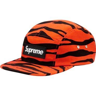 f83e2a845b1 Supreme Orange Zebra Camp Cap