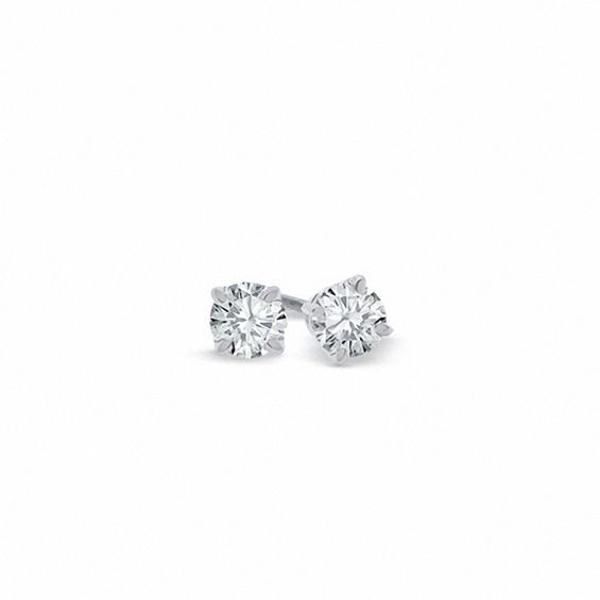 1 4 Ct T W Certified Diamond Solitaire Stud Earrings In Platinum I Si2 Gold Bar Earrings Stud Earrings Bar Stud Earrings