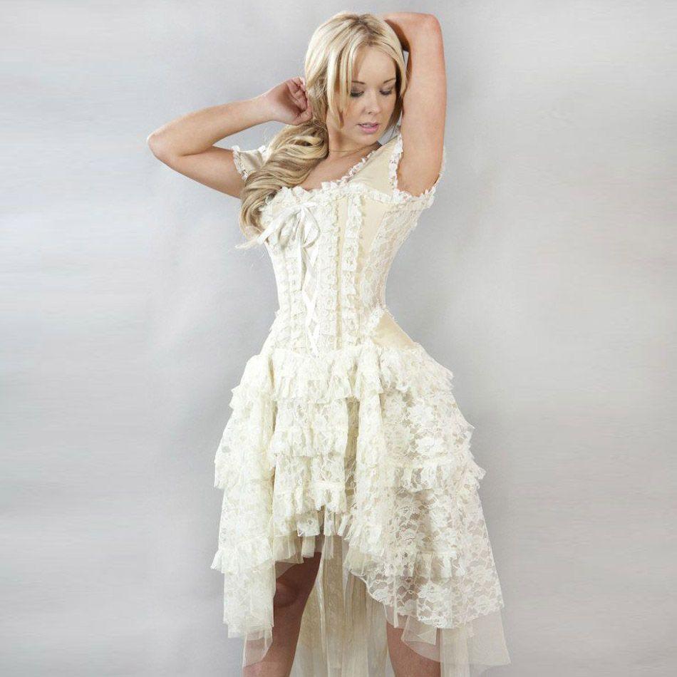 kleid viktorianisch aus spitze mit korsett - ophelie dress