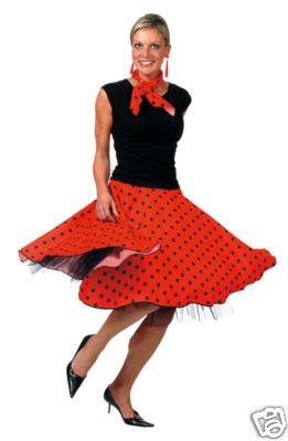 Ladies Rockabilly Costume 1950s Rock N Roll Fancy Dress Womens 50s Outfit Polka
