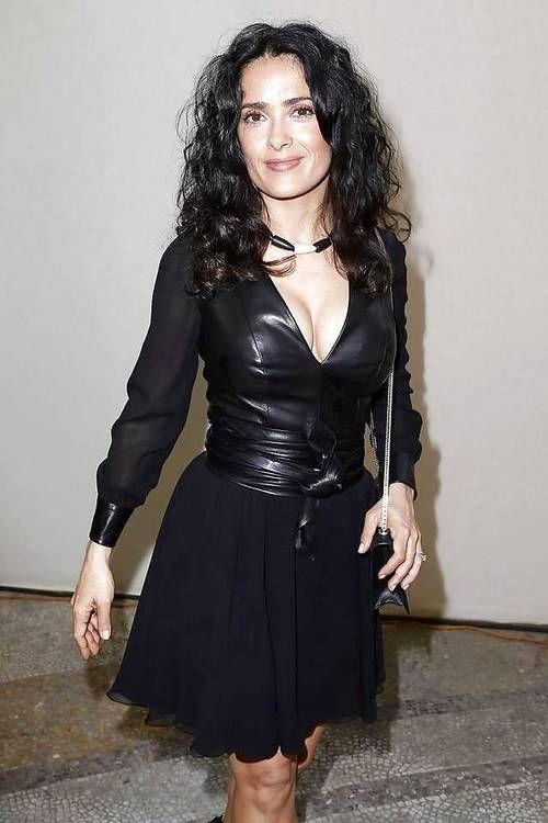 Salma Hayek at Yves Saint Laurent Fashion Show in Paris …