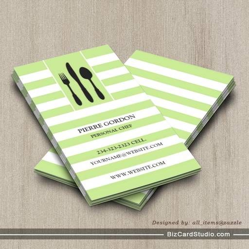 Personal Chef Business Cards Elitadearest