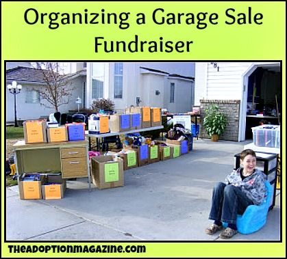 How to organize a garage sale fundraiser or how to organize a trivia night at www.triviapacks.com