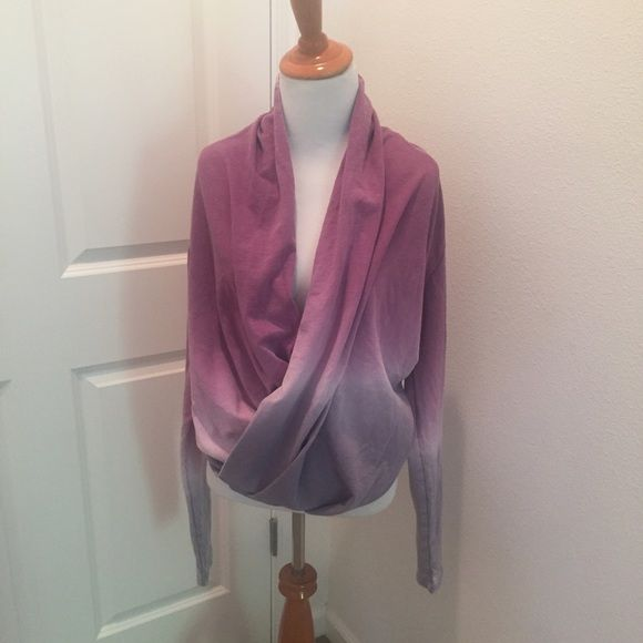 NWOT Young Fabulous & Broke wrap sweater Sz Small Beautiful gradient lavender to grey wrap sweater. Purchased at Saks. Would keep but I have so many others similar. Super cute with leggings or jeans! Young Fabulous & Broke Tops