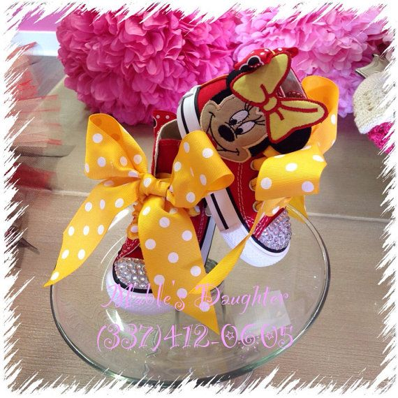 Minnie Mouse Bling Converse by MablesD on Etsy   Babyshower