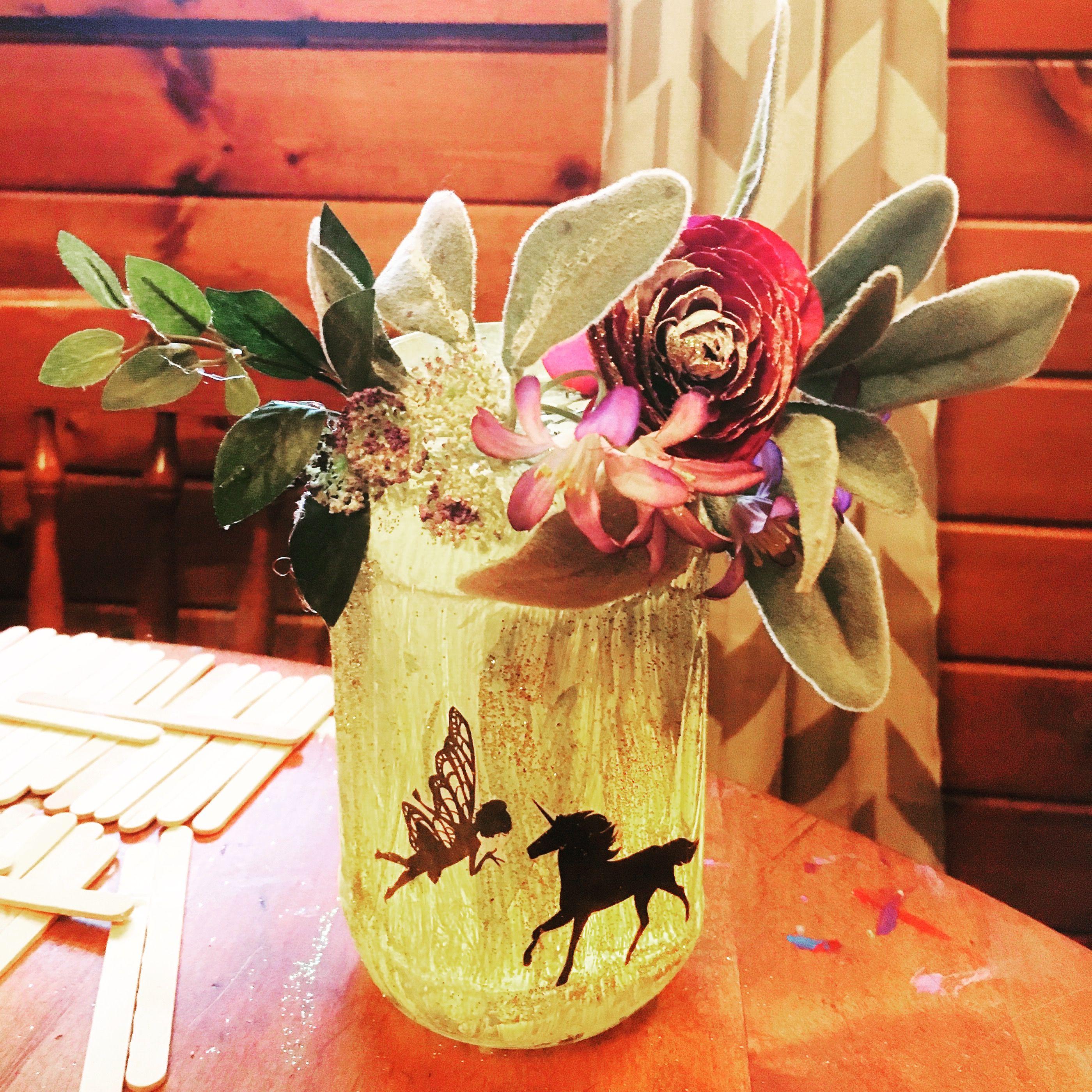 Fake flowers for crafts - Fairy Lantern Handmade Craft Project W Mason Jar Paint Fake Flowershandmade