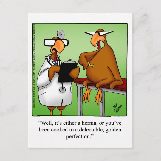 "Funny Thanksgiving ""Golden Perfection"" Postcard Zazzle"