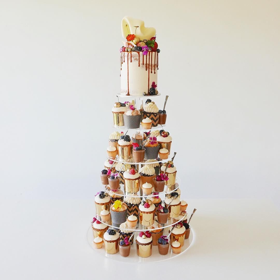 An epic dessert tower for my two beautiful friends engagement party ...