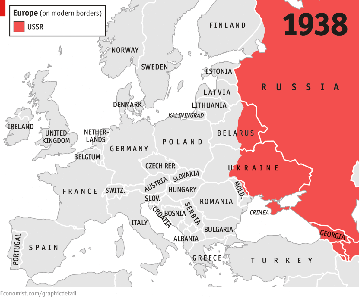 Hammer And Scythe Europe Map Cold War Map