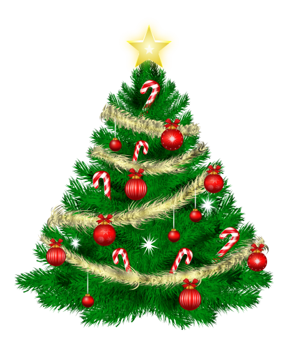 Christmas Tree With Christmas Ornaments And Star Png Clipart The Best Png Clipart Christmas Tree Images Amazing Christmas Trees Christmas Tree Clipart