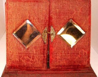 Antique Photo Album Victorian Red Velvet Photo Album With Mirrors