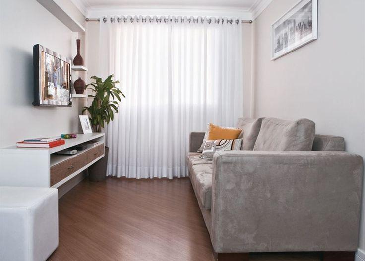 Resultado de imagem para cortina em sala pequena ideias for Sillones para apartamentos pequenos