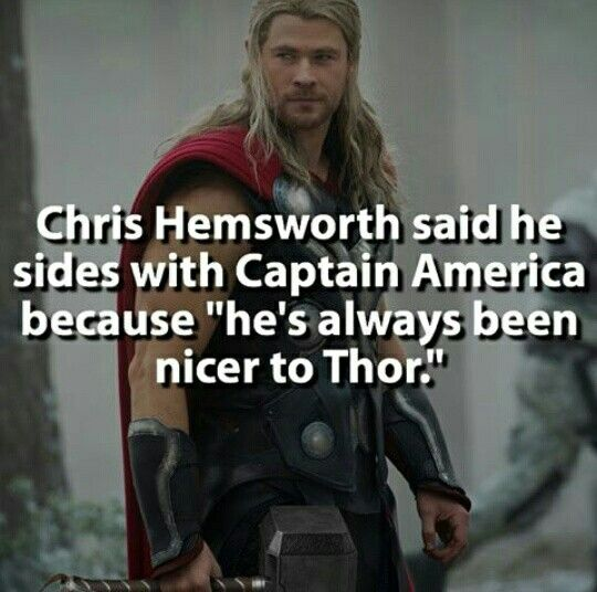 Yeah. You know, Cap is a nice guy. Well.. Sometimes. :3