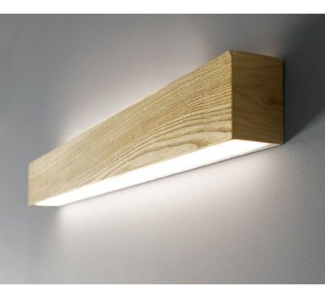 Ledlux Nord Led Up Down Long Wall Bracket In Teak Wall Lights