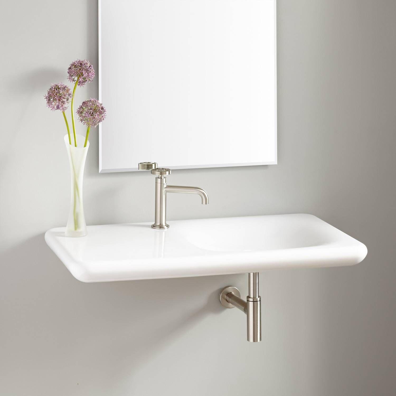 Vilas Porcelain Wall Mount Sink Wall Mount Sinks Bathroom Sinks Bathroom Wall Mounted Sink Wall Mount Sinks Small Bathroom Sinks