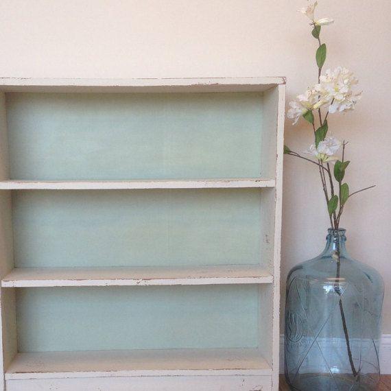 White Vintage Bookcase Small Painted Bookshelf Short Mint Bookcase Painted Bookshelves Small Bookcase Vintage Bookcase