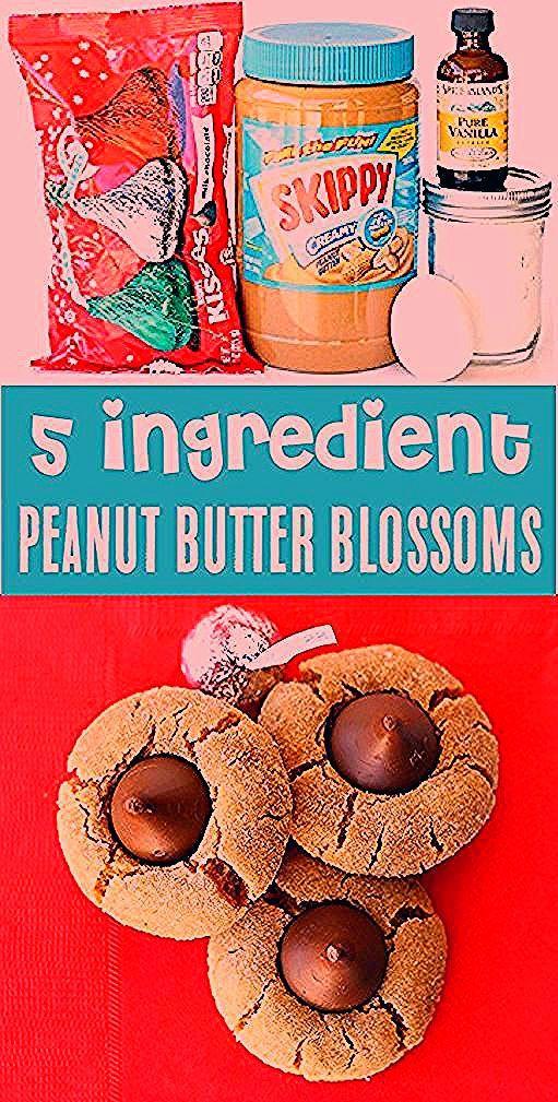 ErdnussbutterPlätzchenRezept mit Küssen Easy 5 Zutaten Hershey Kiss Cook