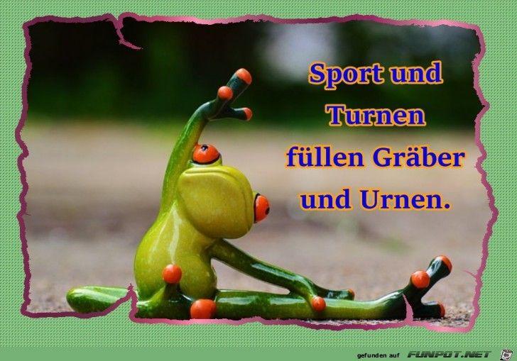 Lustiges Bild Sport Und Turnen Jpg Eine Von 25833 Dateien In Der Kategorie Klasse Spruche Und Witze Auf Funpot Frog Funny Frogs Humor