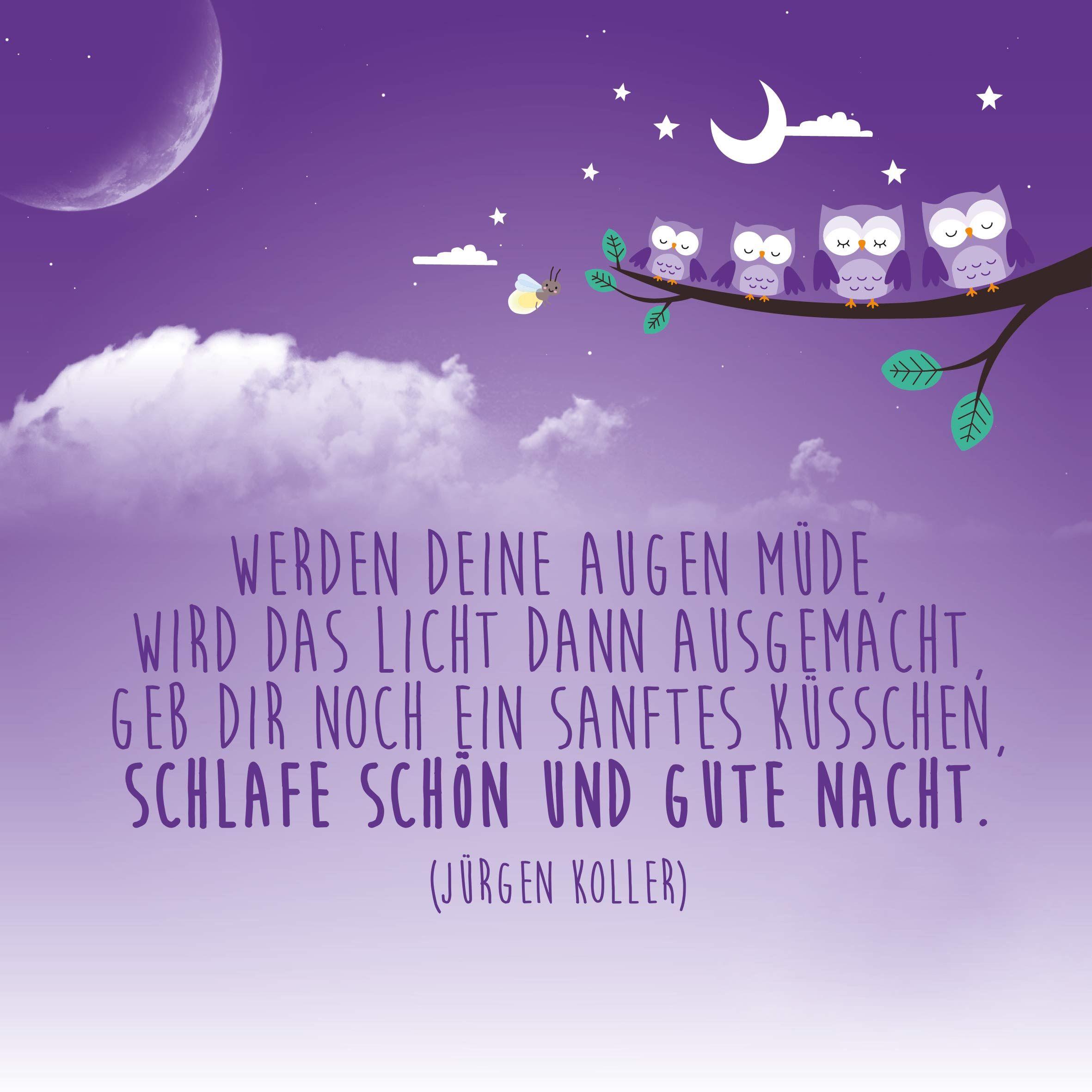 Baby Spruch | einschlafen | Gute nacht, Gute nacht zitate