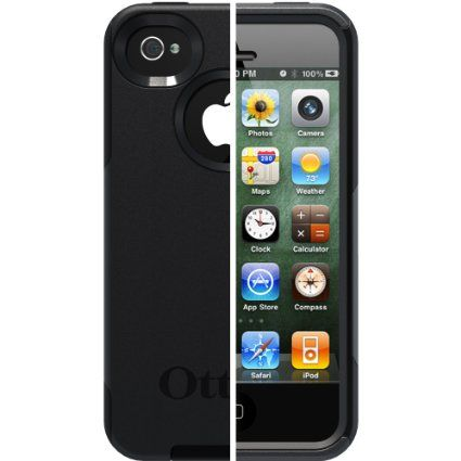 Amazon.com: OtterBox Commuter Series Case for iPhone 4/4S - Retail Packaging - Black: Cell Phones & Accessories