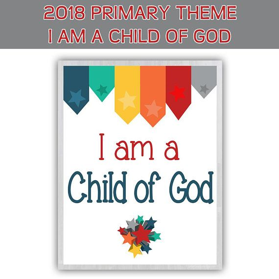 2018 primary sharing time bundle i am a child of god 2018 for Idea door primary sharing time