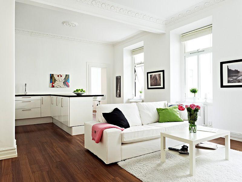 Dark Floor White Furniture Diseno De Interiores Decoracion En