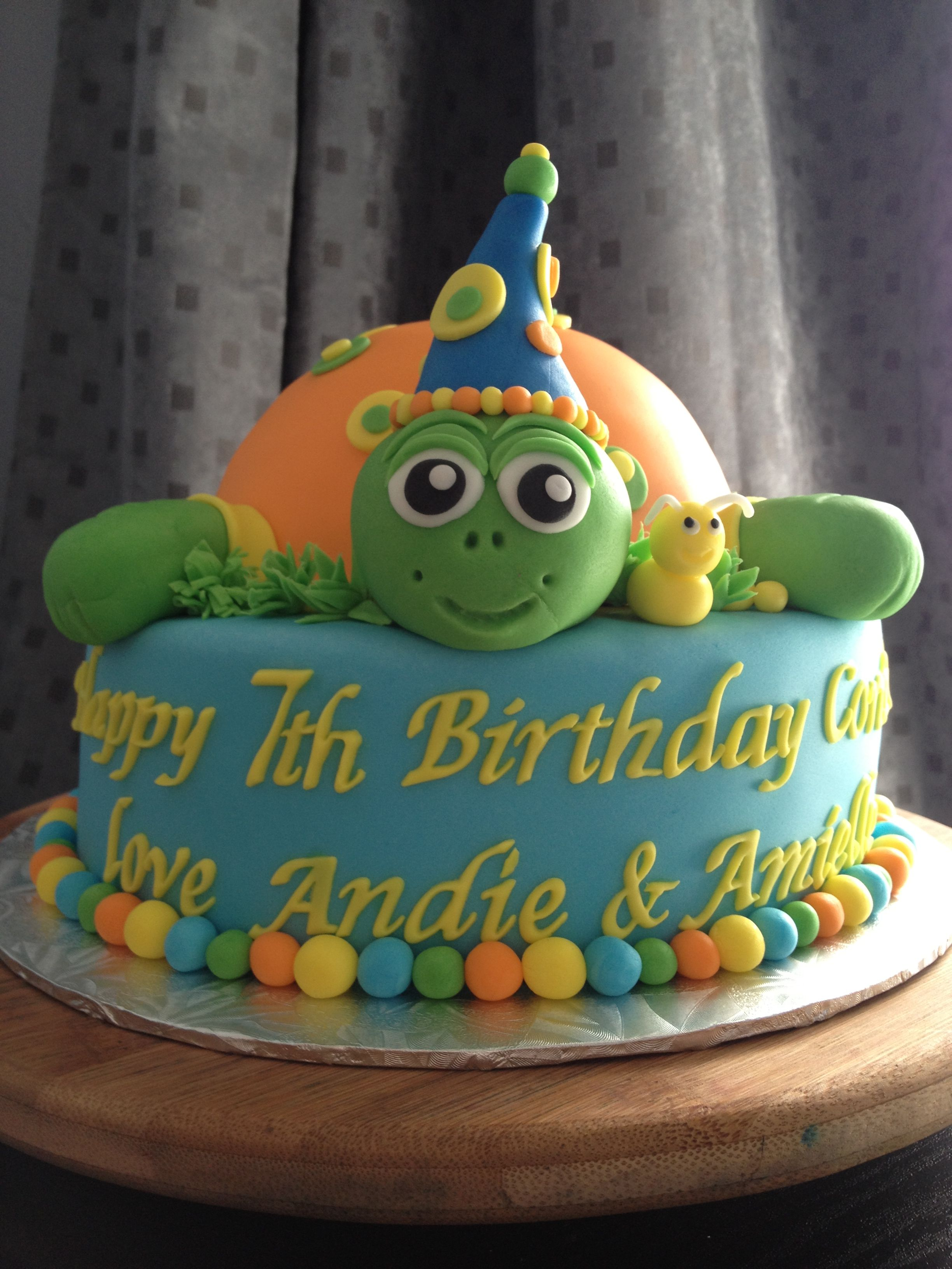 Peachy Turtle Birthday Cake Kids Cake Turtle Birthday Cake Turtle Funny Birthday Cards Online Inifofree Goldxyz