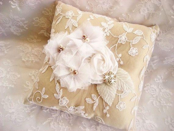 burlap ring pillow - ring bearer pillow ideas   Pillow   Pinterest ...