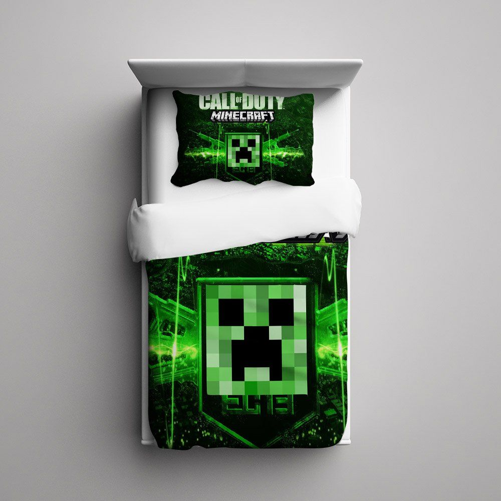 Minecraft bedding the image kid has it - Green pixel bedding ...
