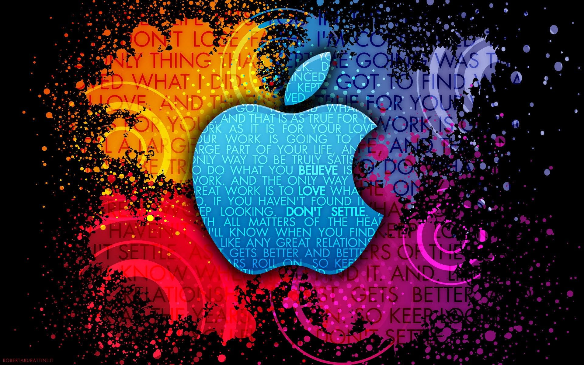 Apple Colorful background creative logo, blue, purple, and