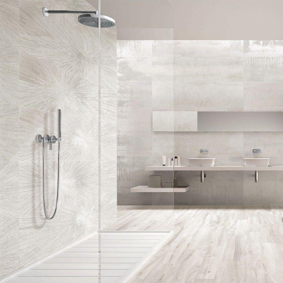 Twilight Star White 12x48 Metal Look Porcelain Tile Bathroom Interior Design Bathrooms Remodel Bathroom Decor