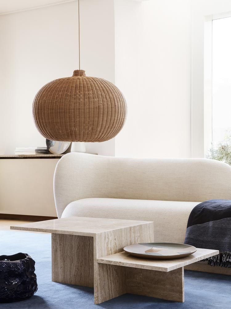 Braided Belly Lamp Shade In 2020 Japanese Living Rooms Japanese Minimalism Ferm Living