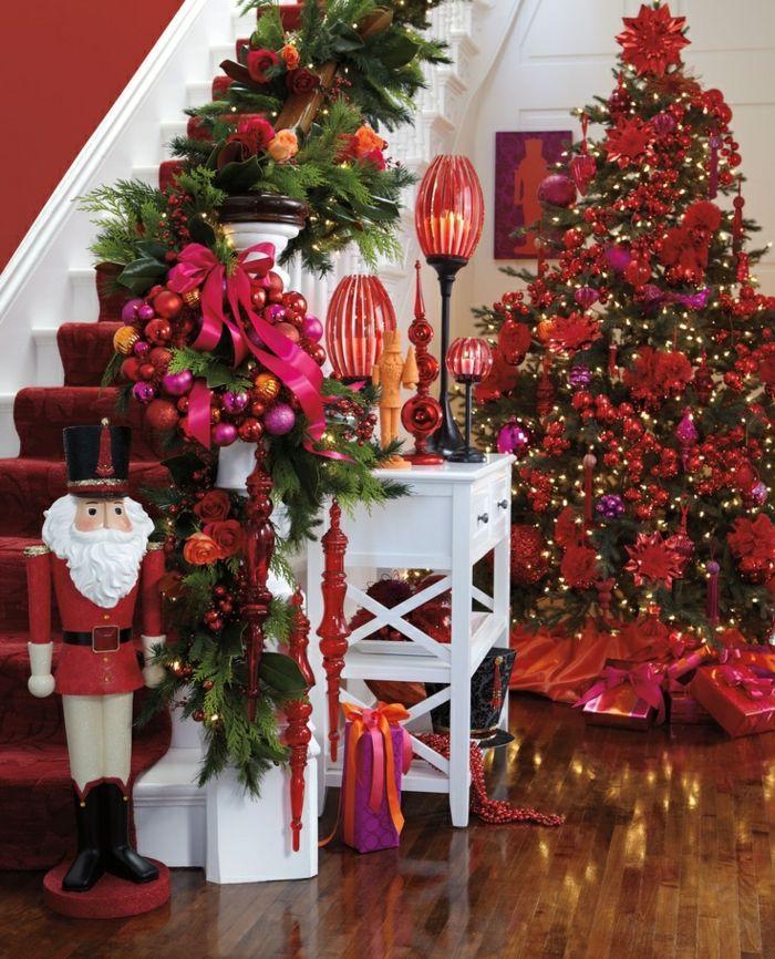 Schon Weihnachtsbaum In Rot Dekorieren