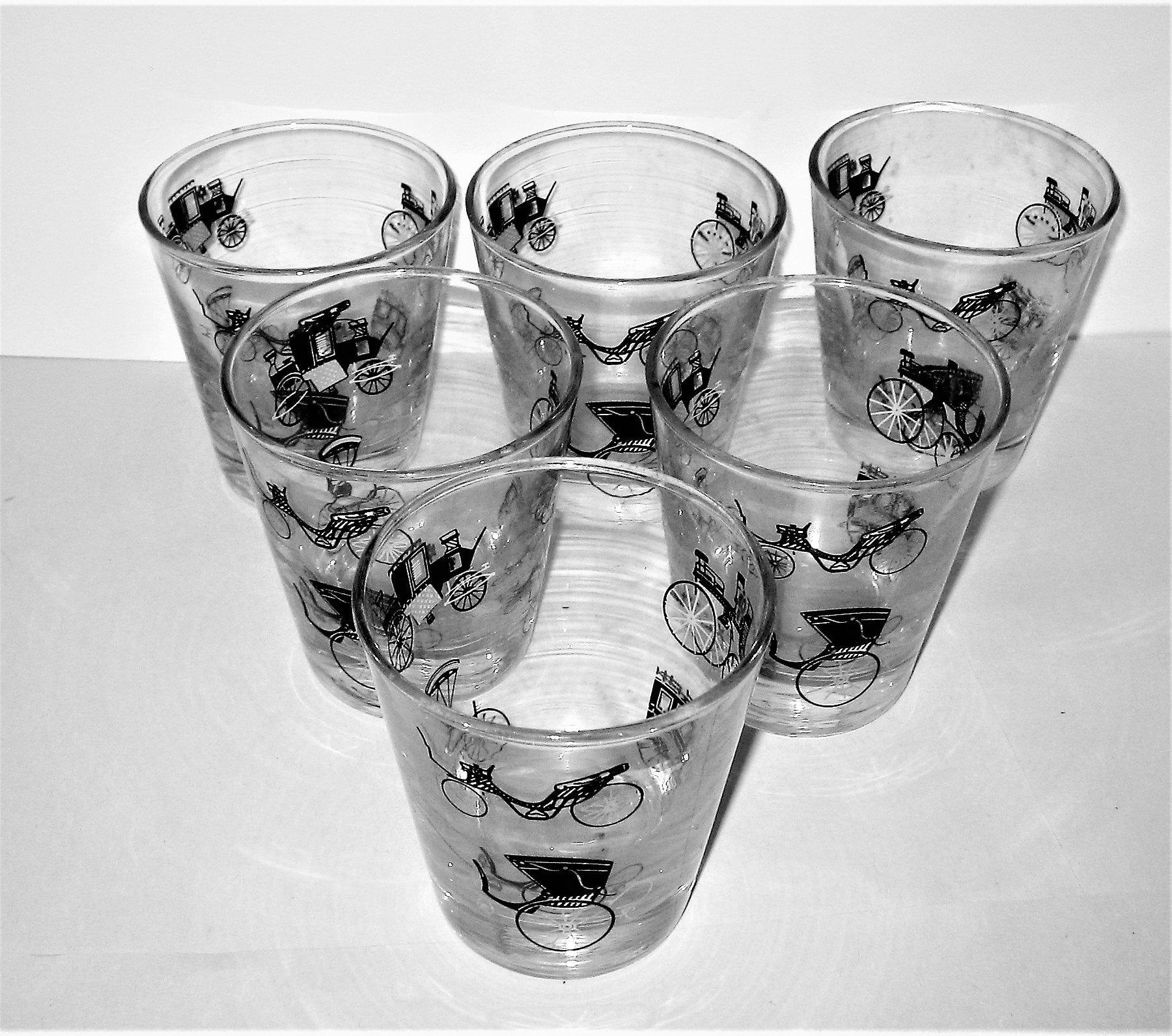 Set of 6 Vintage On The Rocks Glasses, Whiskey Glasses