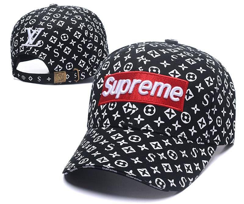 d3e5392f522 Louis Vuitton LV X Supreme Cap Fashion Black White