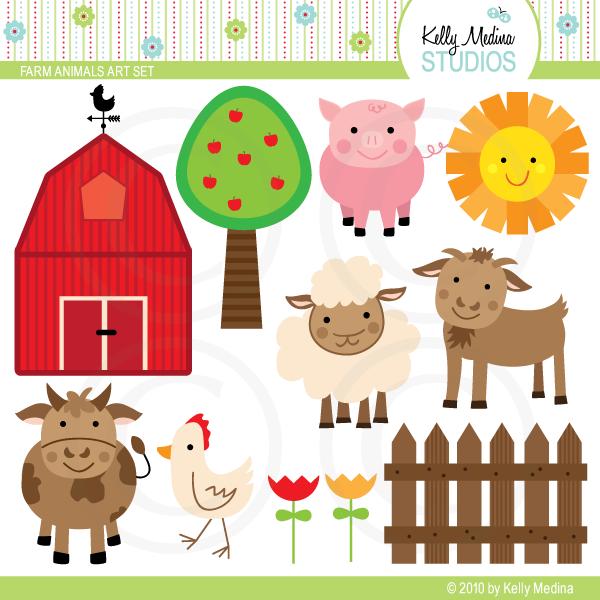 Baby Farm Animals Clip Art farm animals art set | theme - farm | pinterest | farming