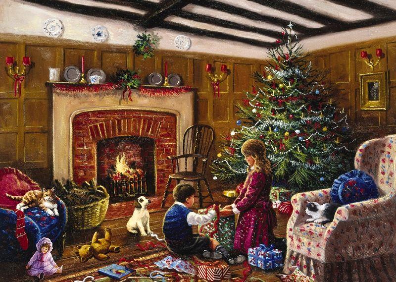 картинки уютные новогодние старинные обитают эти