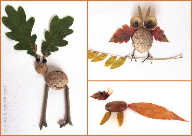 Поделки из листьев или природного материала 34