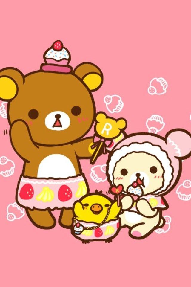Wallpaper Keroppi Cute 蜜思晶 爱疯4s 爱疯5壁纸合集 轻松熊 Rilakkuma Kawaii Cute Cute Bear