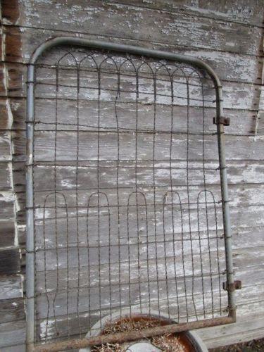 Vintage Antique Woven Wire Steel GARDEN GATE Fence 32 X46 By Holliezhobbiez  On Etsy