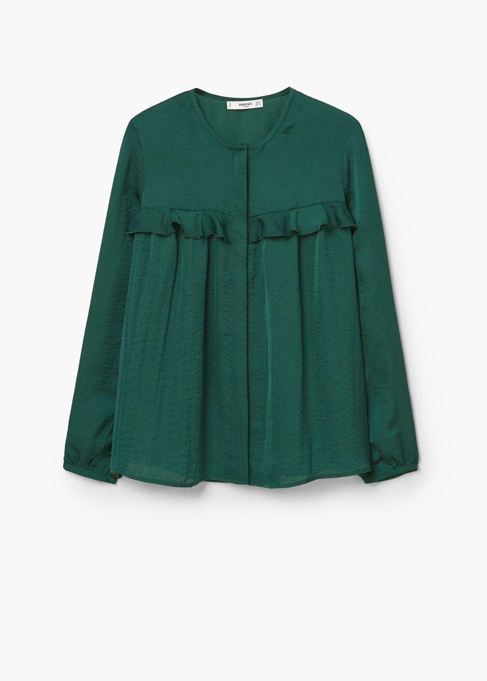 Ruffle blouse   MANGO
