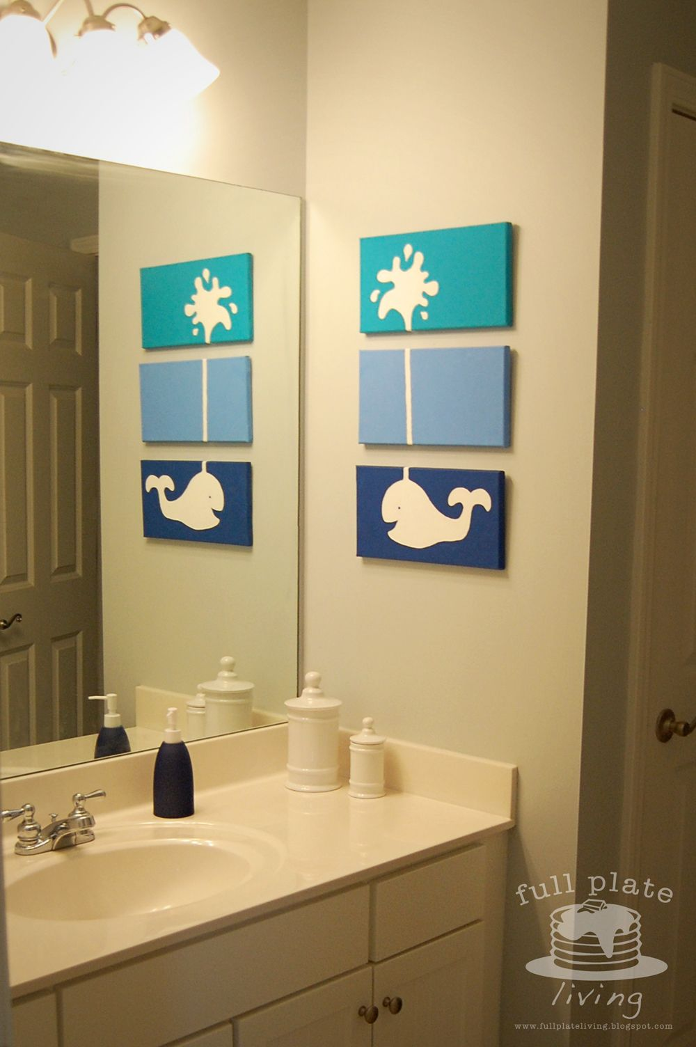 Full Plate Living: Whale of a Project Love this idea! She used paint ...