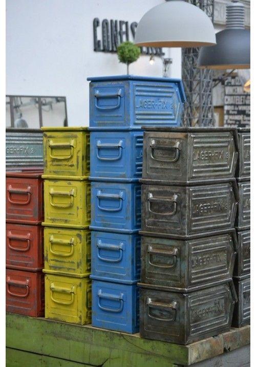 Caisse Schafer Idee Deco Meuble Caisse Metal Objet Deco Industrielle