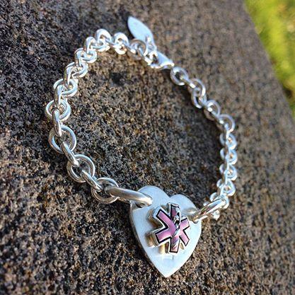 Tiffanyesque Medical Alert Bracelet Solid By Birthdesigns On Etsy